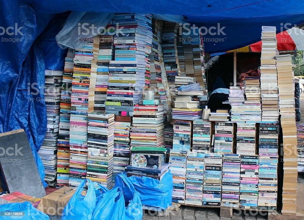 Book Stall On Road Side stock photo