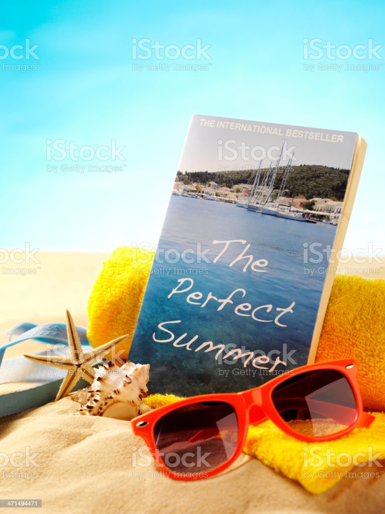 Book Title for a Perfect Summer on the Beach royalty-free stock photo