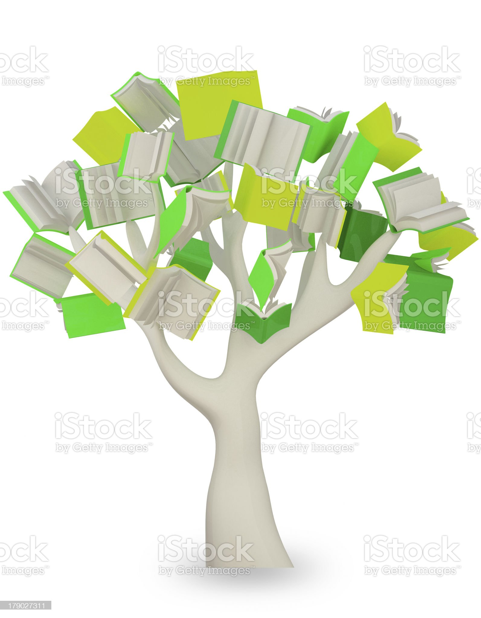 book tree. clipping path royalty-free stock photo