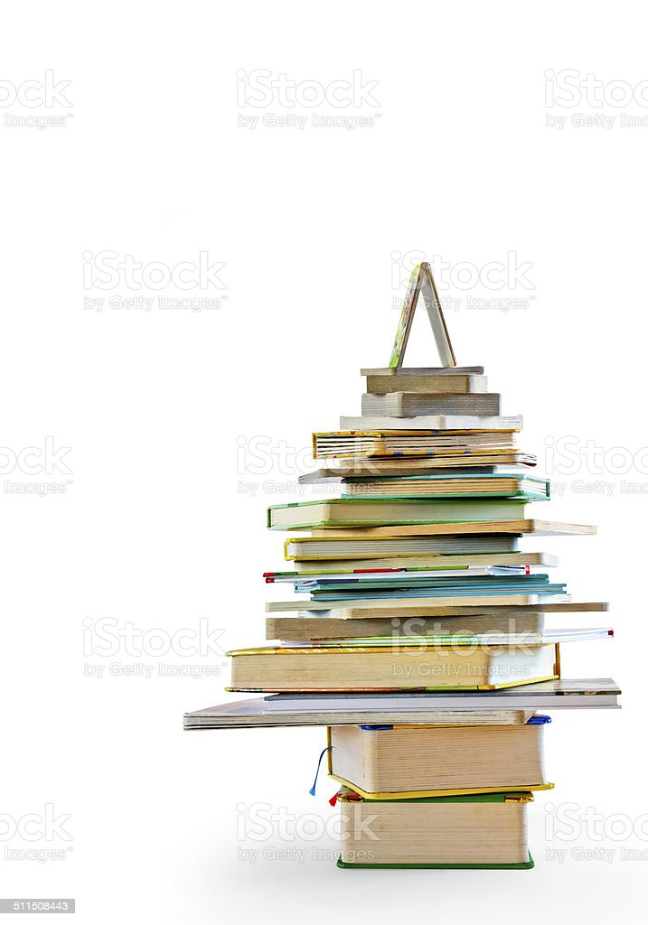 Albero di libri stock photo