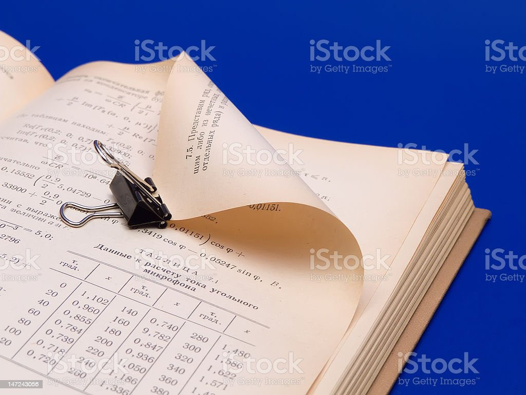 Book with clip royalty-free stock photo