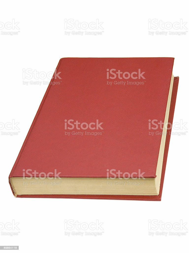 Book with red cover royalty-free stock photo