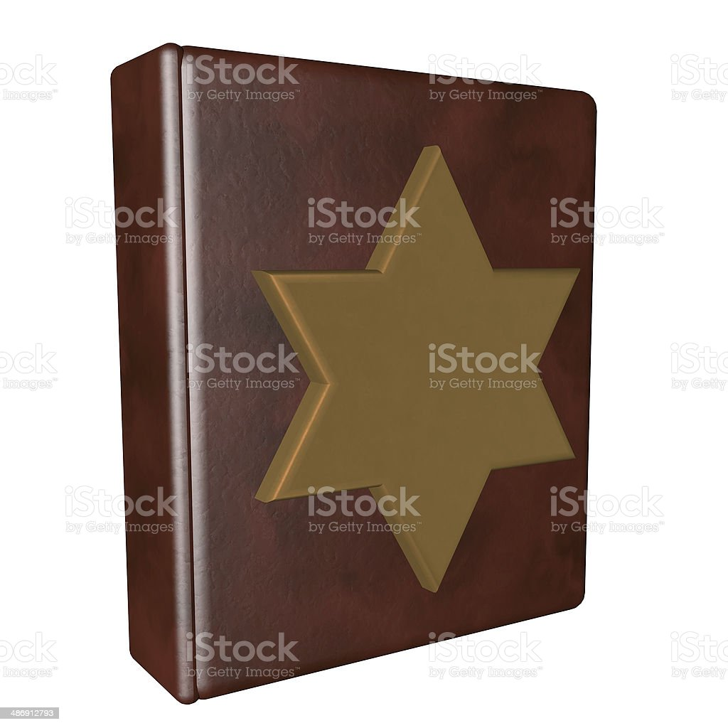 Book with Star of David stock photo