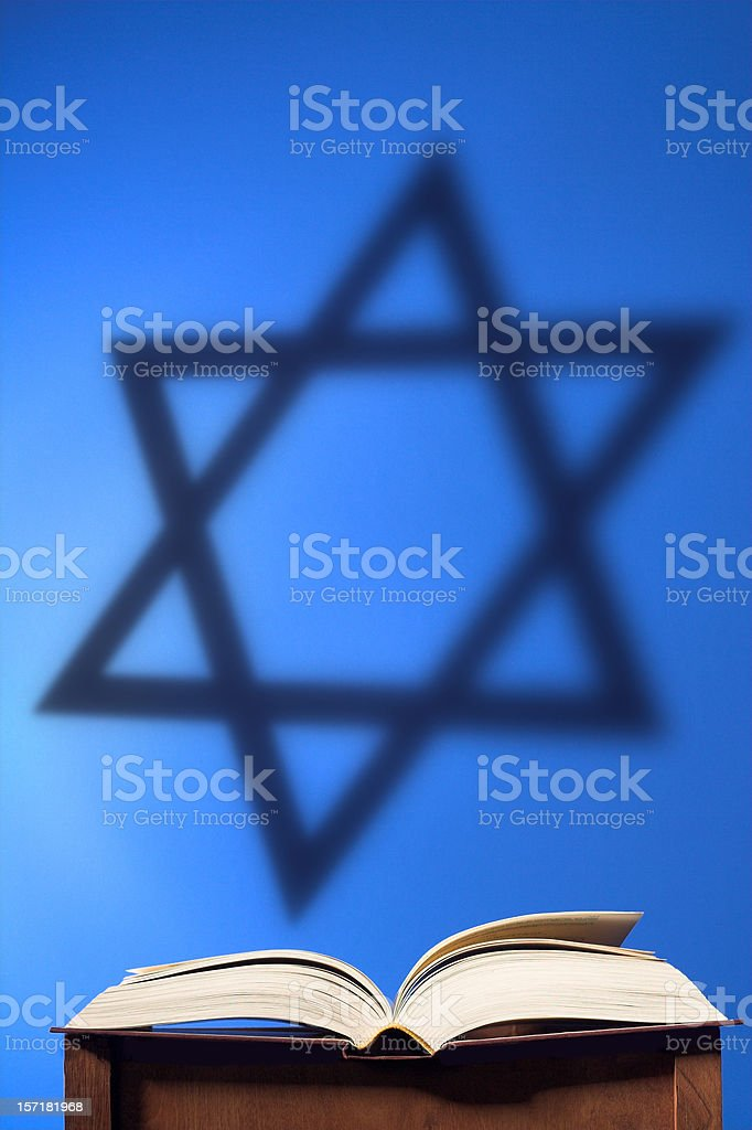 Book with Star stock photo