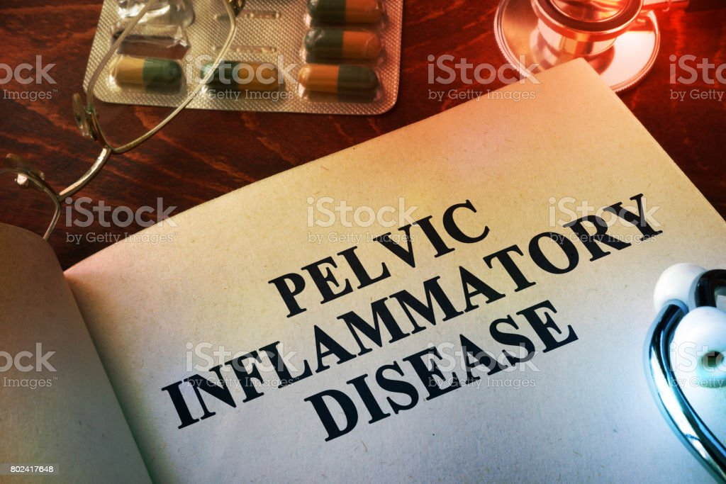 Book with title Pelvic inflammatory disease (PID). stock photo