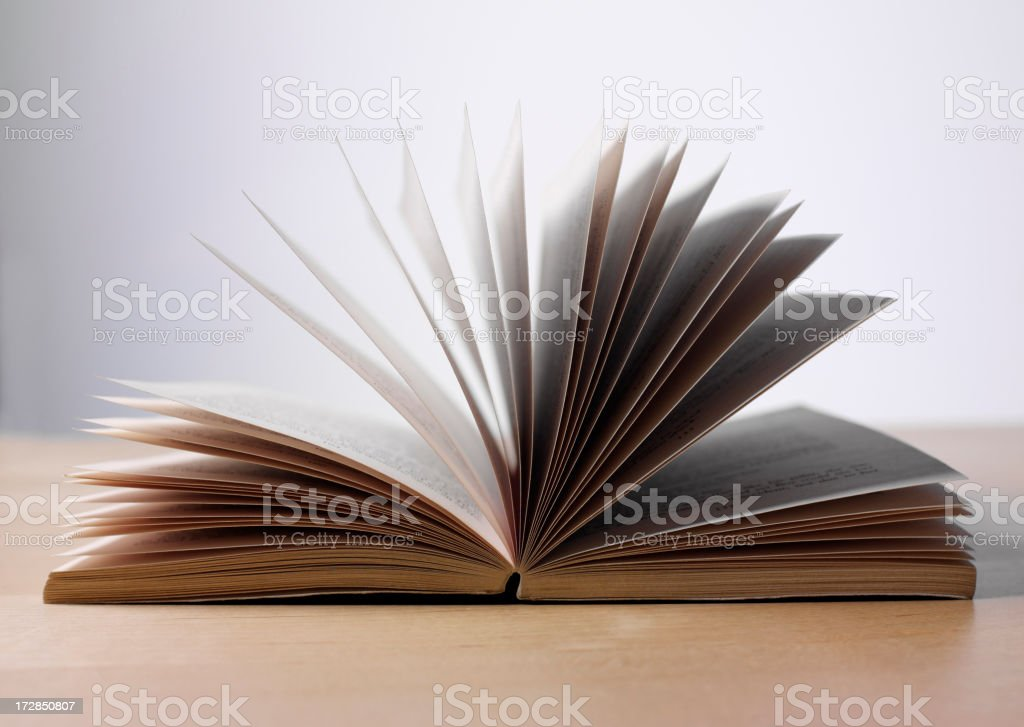Book with Turning Pages stock photo