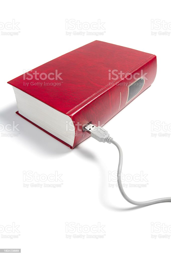 book with usb socket stock photo