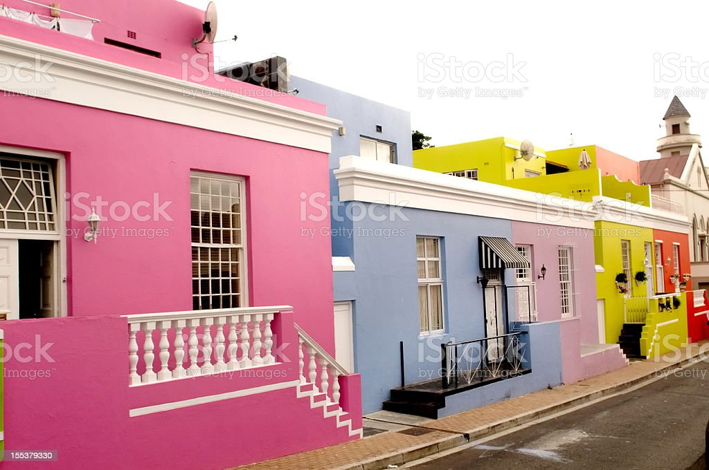 Boo-Kaap neighborhood in Cape Town royalty-free stock photo