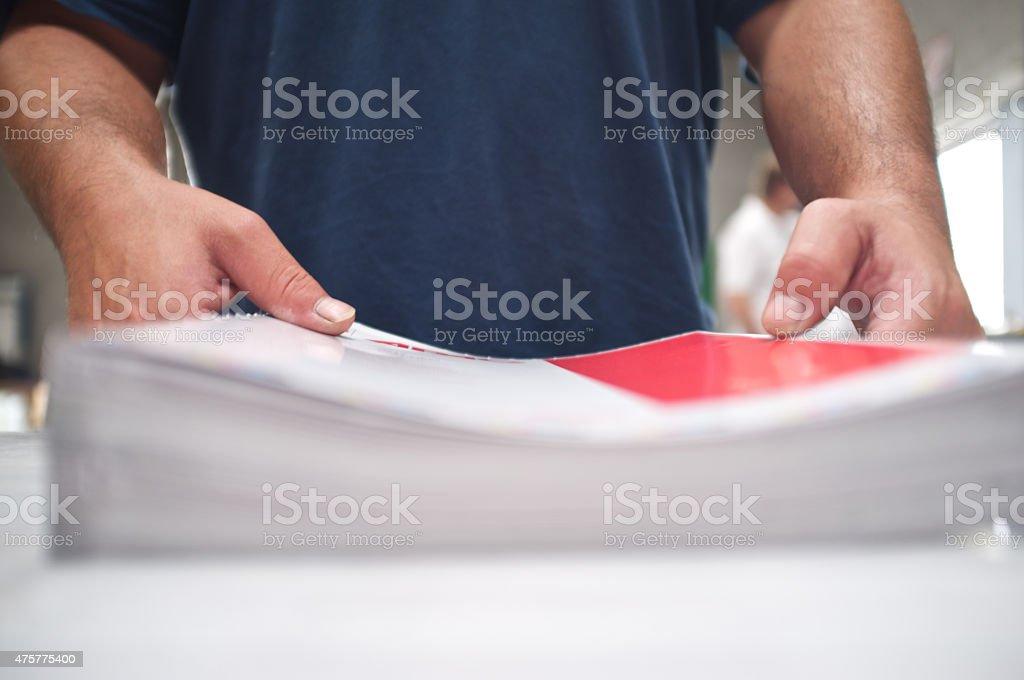 bookbinding stock photo
