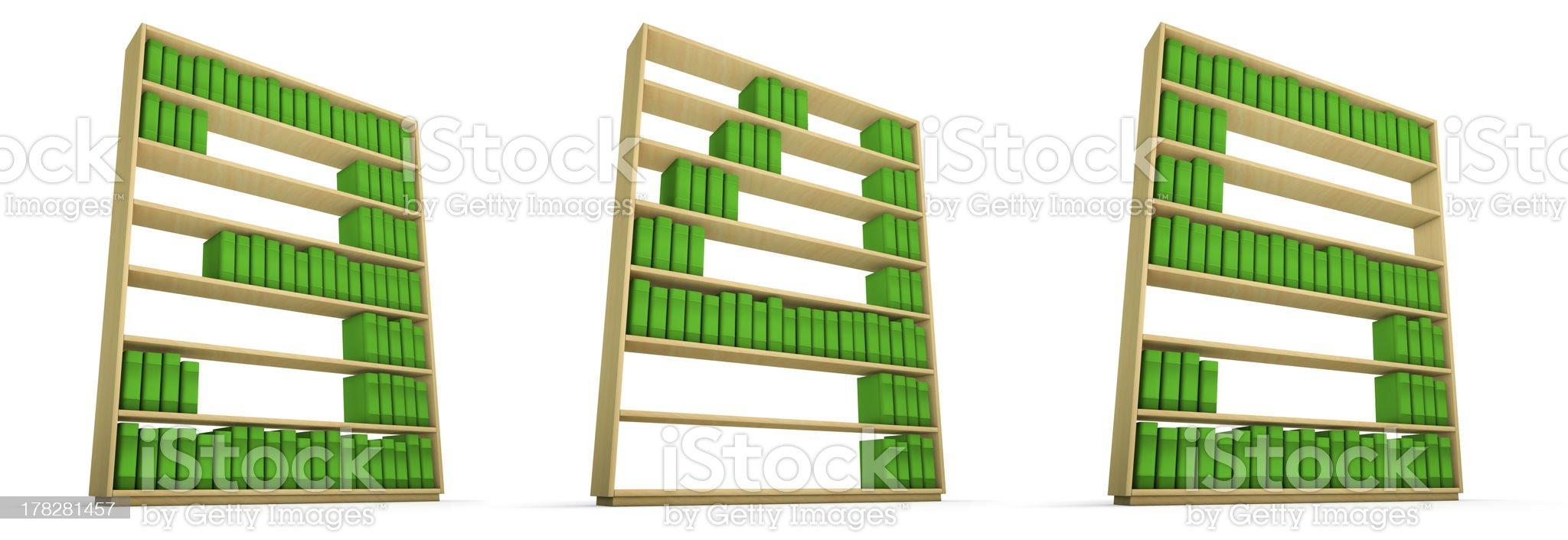 Bookcase alphabet royalty-free stock photo