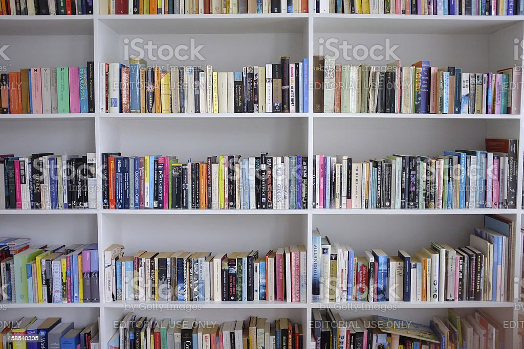 Bookcase stock photo