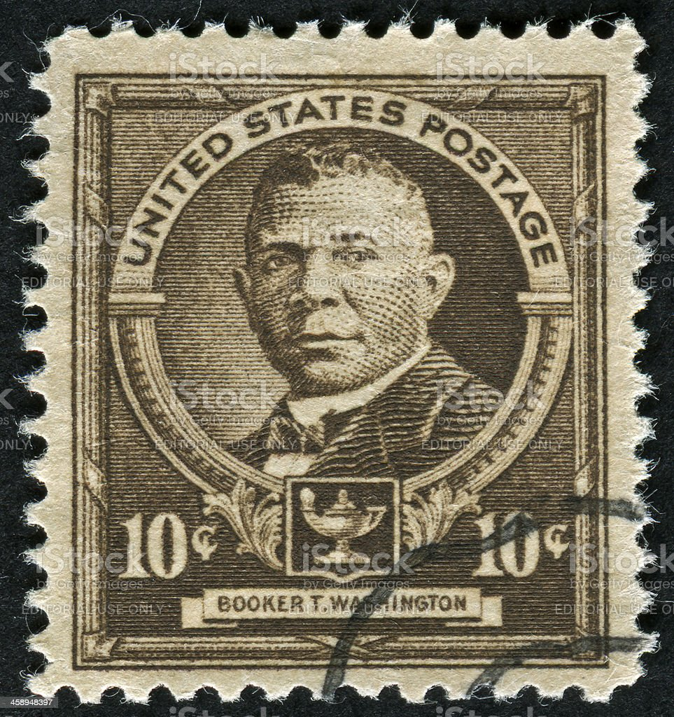 Booker T. Washington Stamp stock photo
