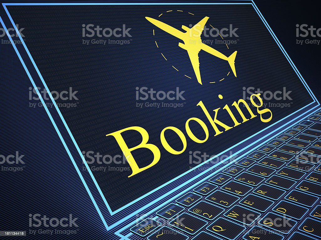 Booking button virtual keyboard royalty-free stock photo