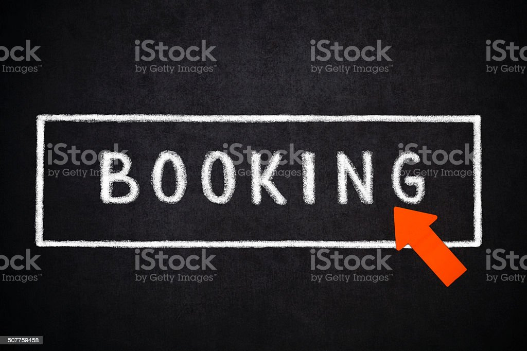 Booking stock photo
