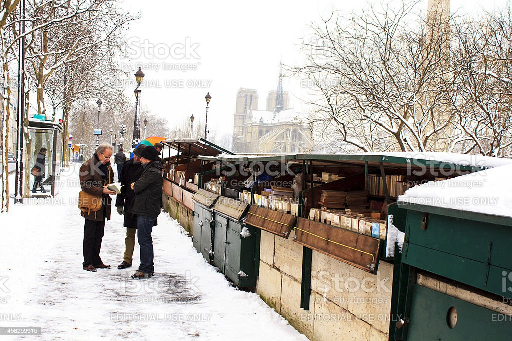 Bookinist stands, Paris - France royalty-free stock photo