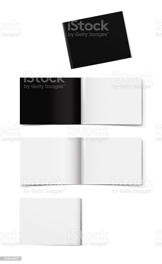 Booklet layout stock photo