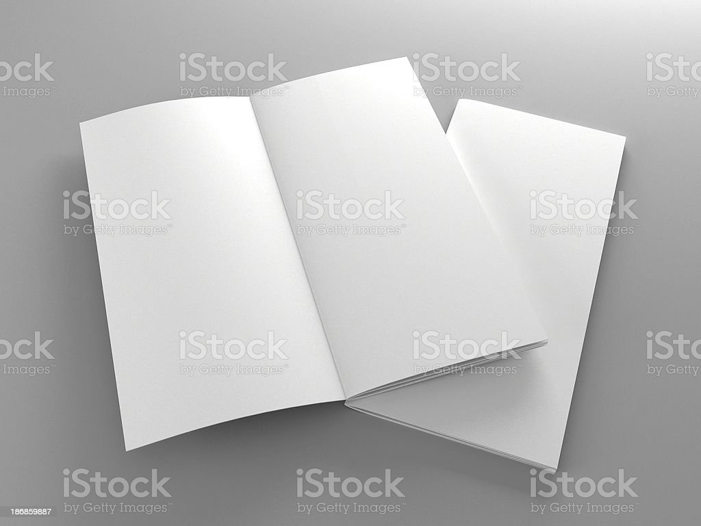 Booklet template stock photo