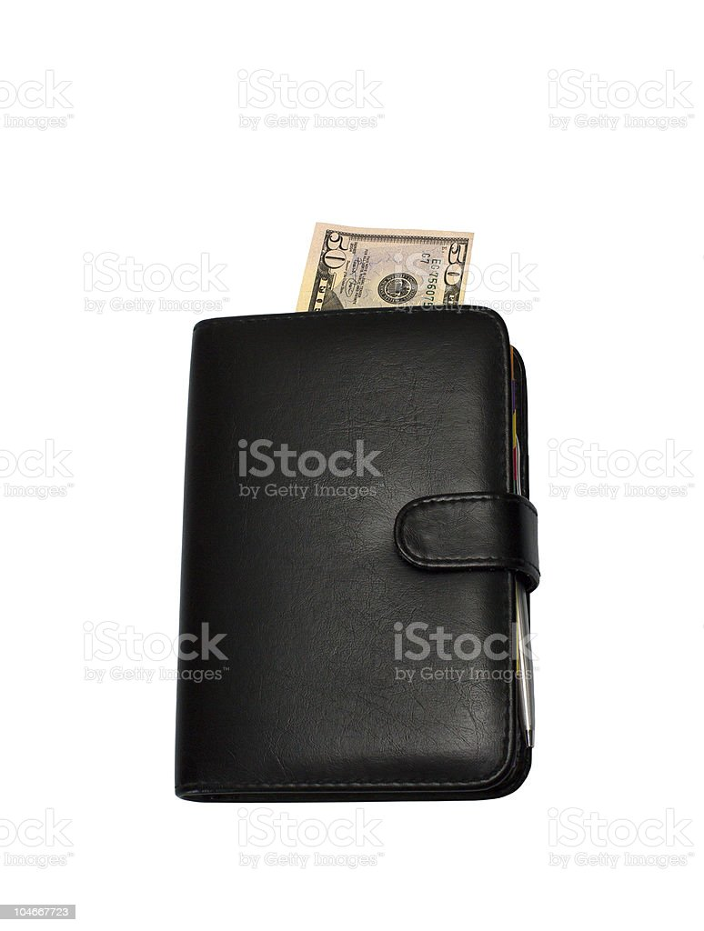 Bookmark in a notebook. stock photo