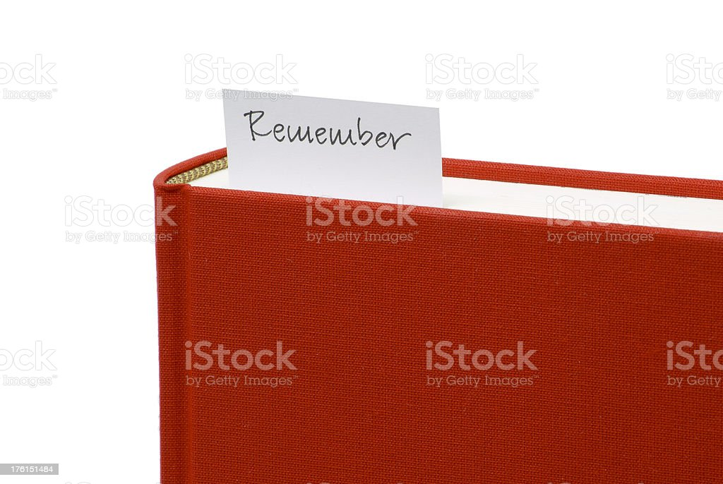 Bookmark in red book stock photo