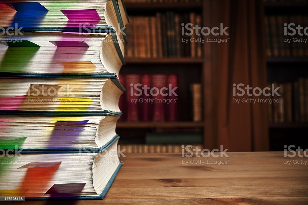 Bookmarked stock photo
