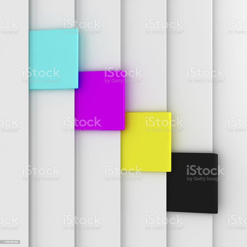 CMYK bookmarks royalty-free stock photo