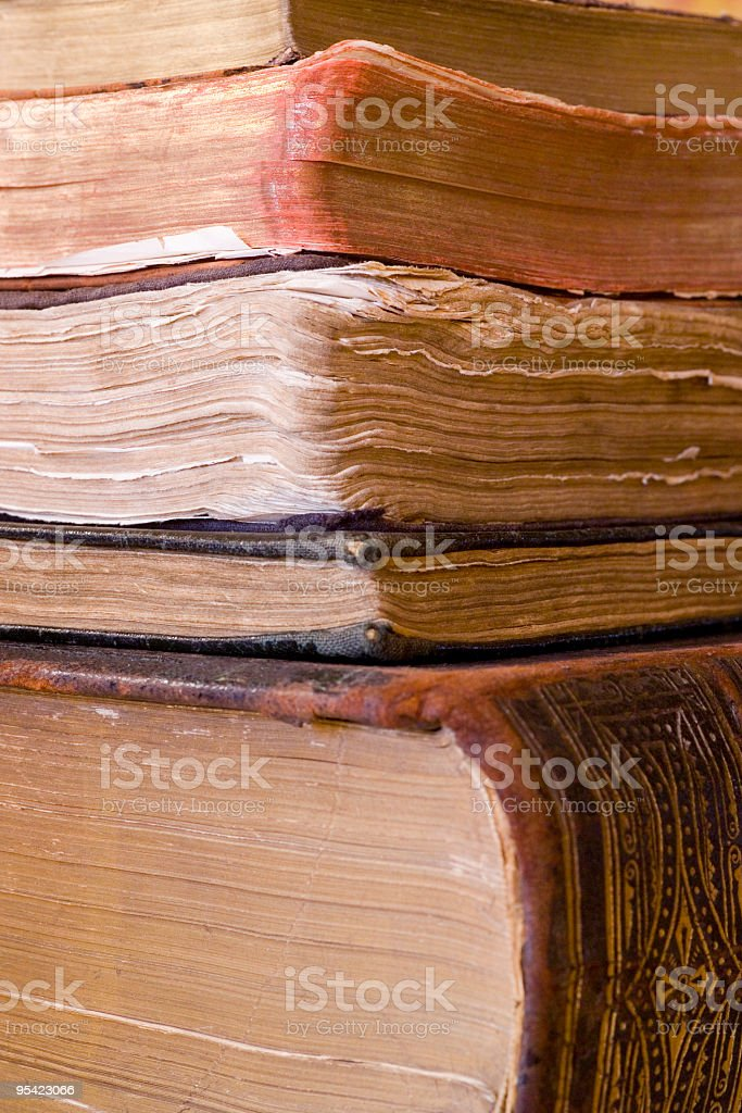 Bookpile royalty-free stock photo
