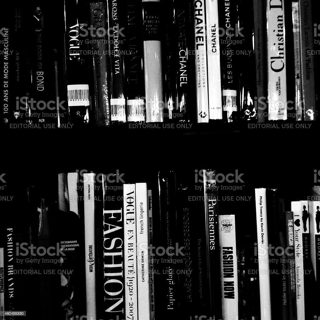 books about fashion stock photo