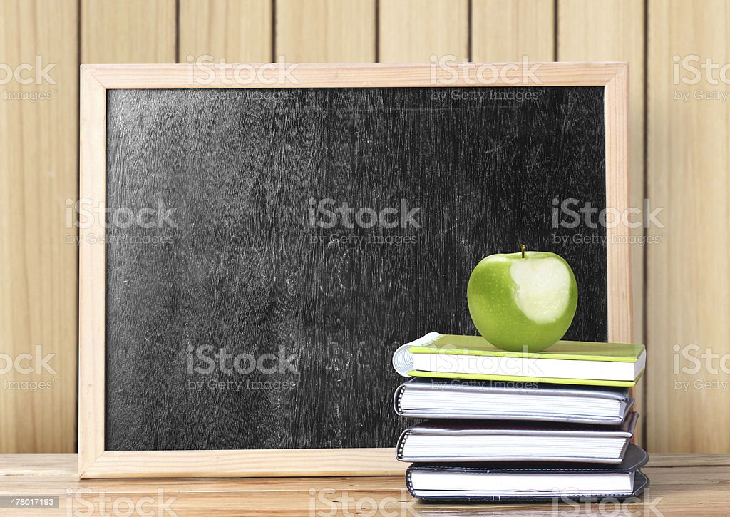 books and blackboard School royalty-free stock photo