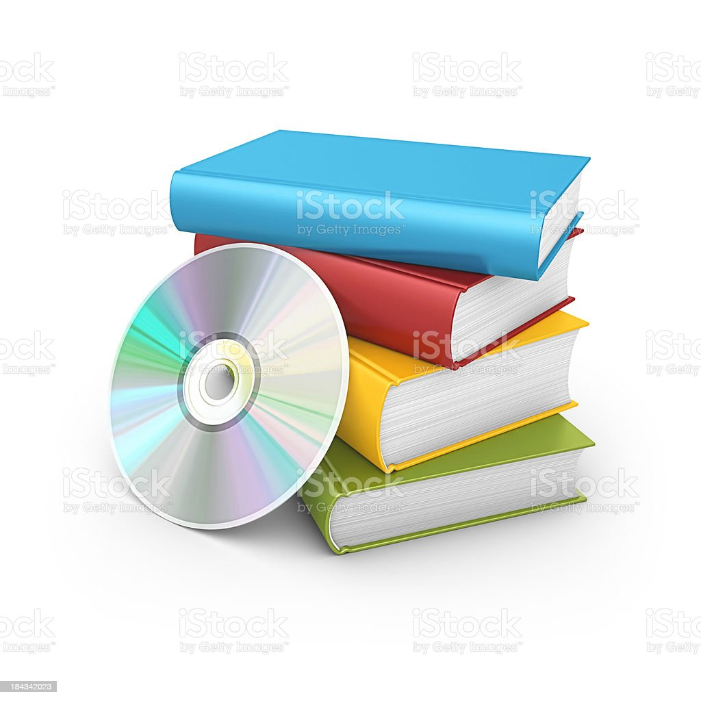 books and cd royalty-free stock photo