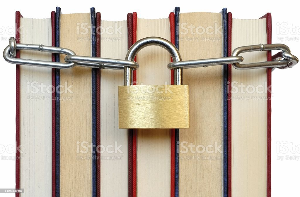 Books and Chain stock photo