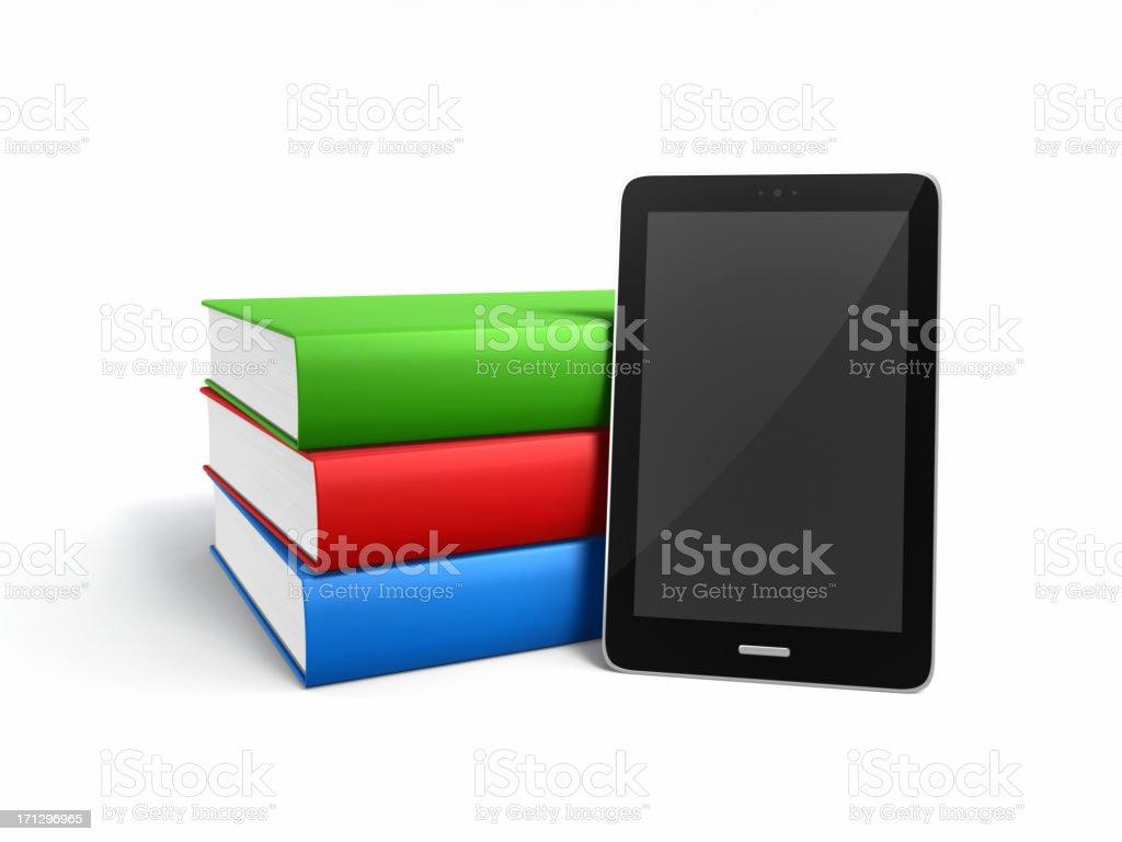 Books and E-reader XL stock photo