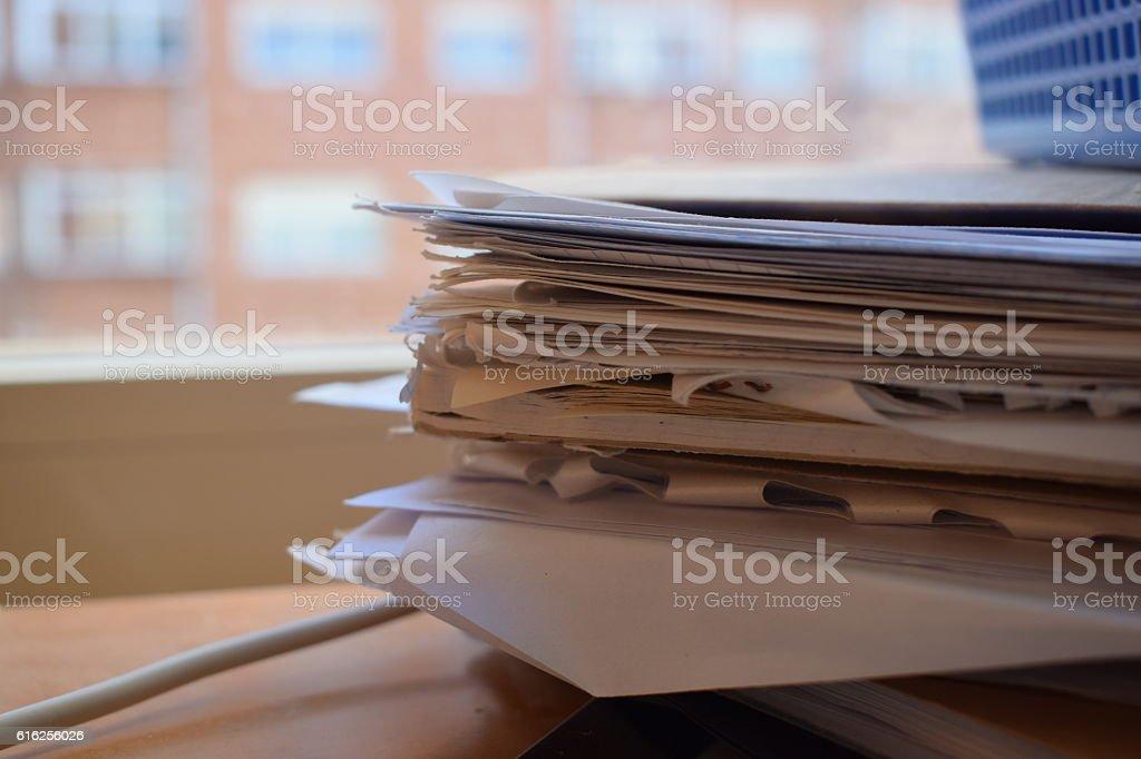 Books and folders. stock photo
