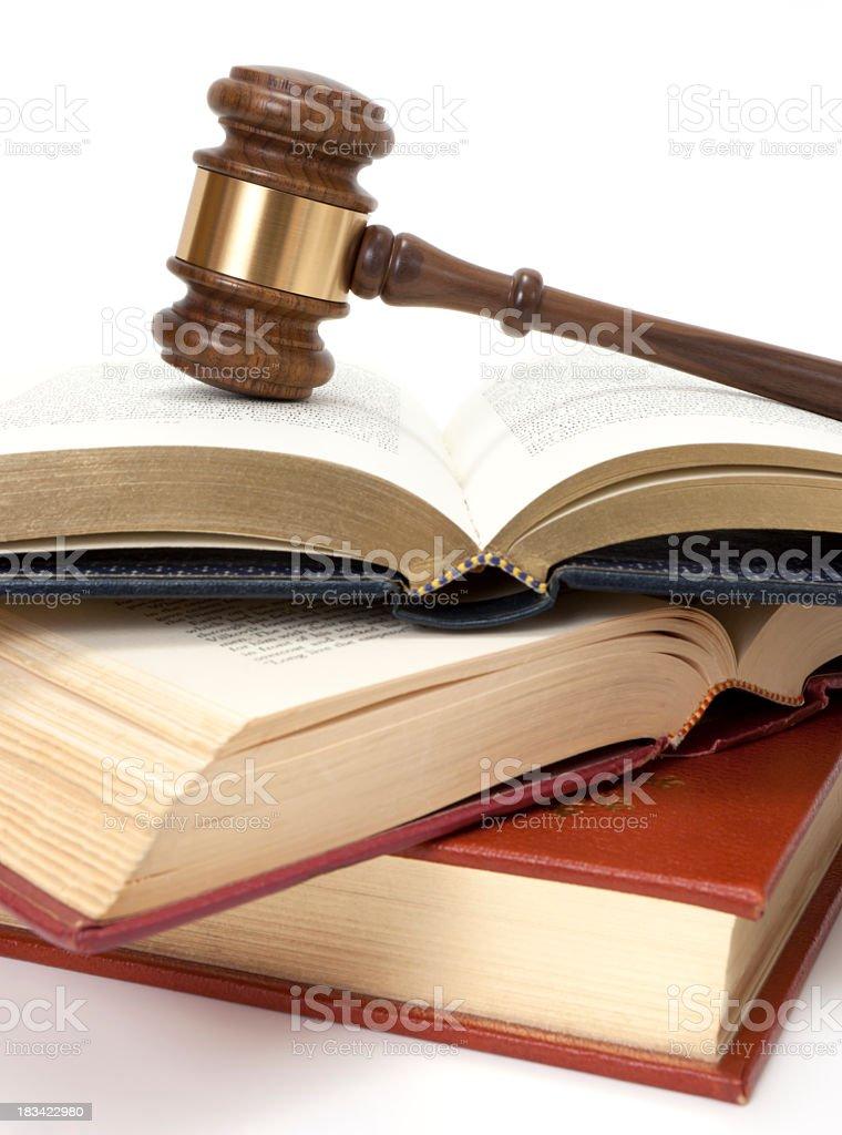 Books and gavel stock photo