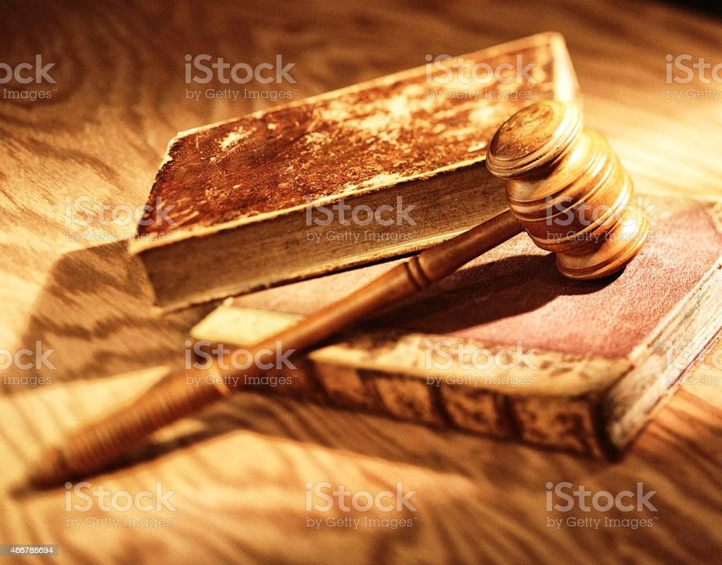 Books and Gavel stock photo