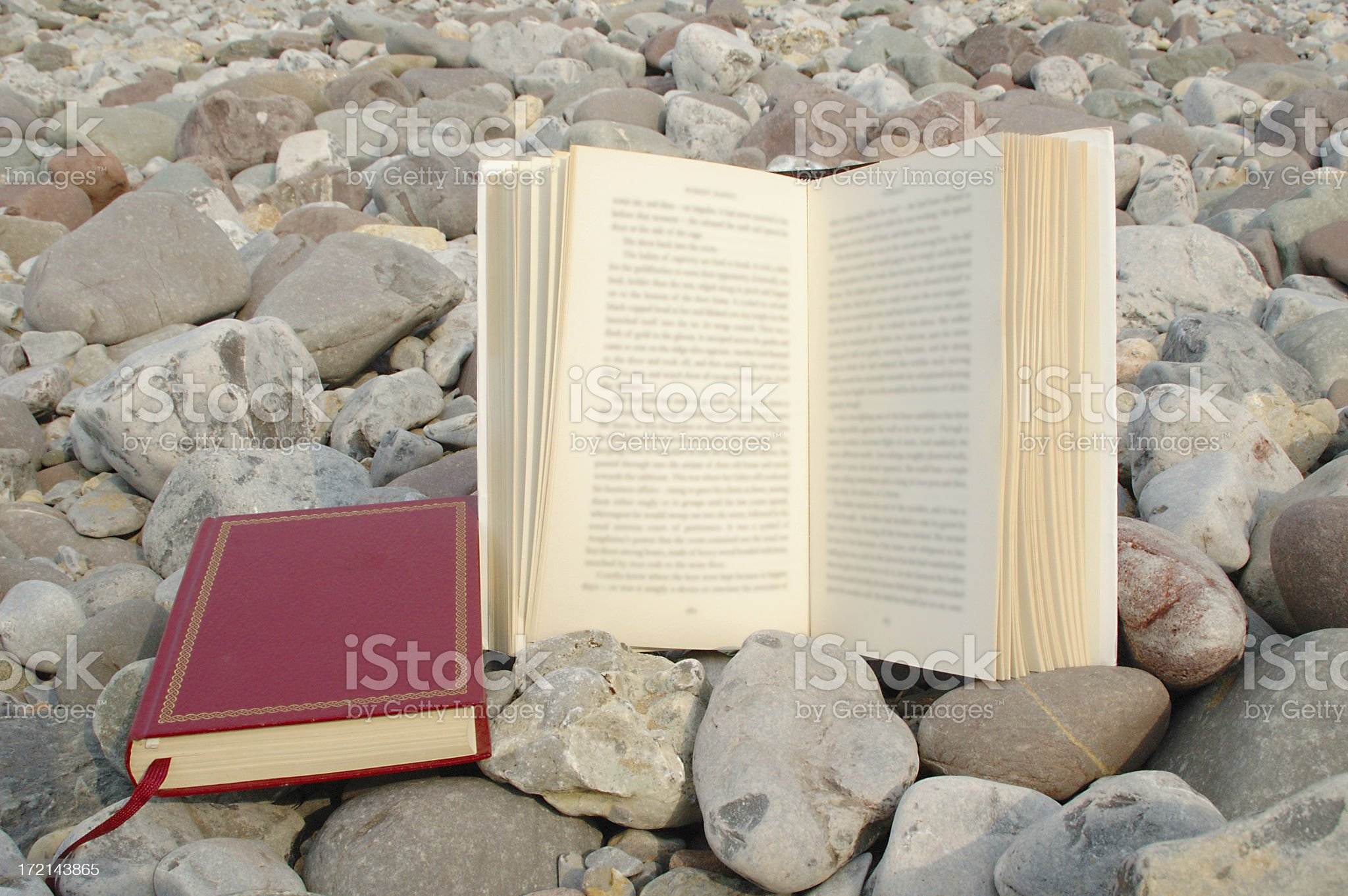 books and pebbles royalty-free stock photo