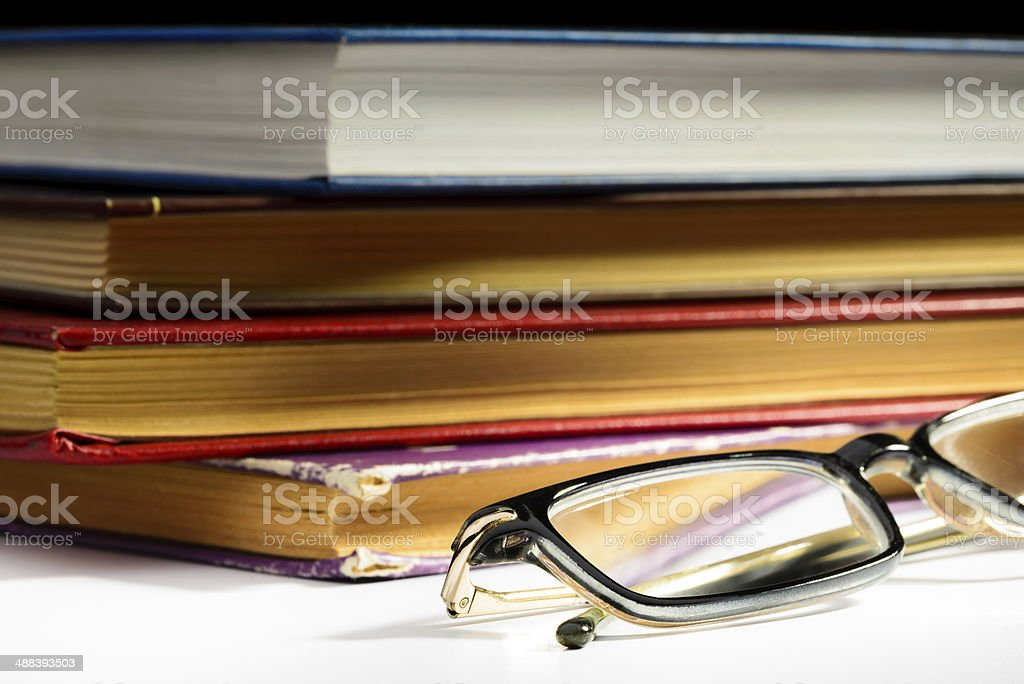 Books and Spectacles royalty-free stock photo