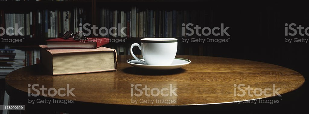 Books and Tea Cup royalty-free stock photo
