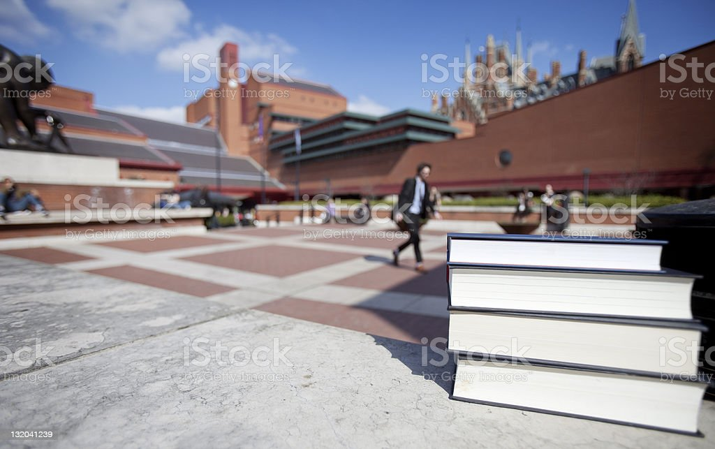 Books at The British Library royalty-free stock photo