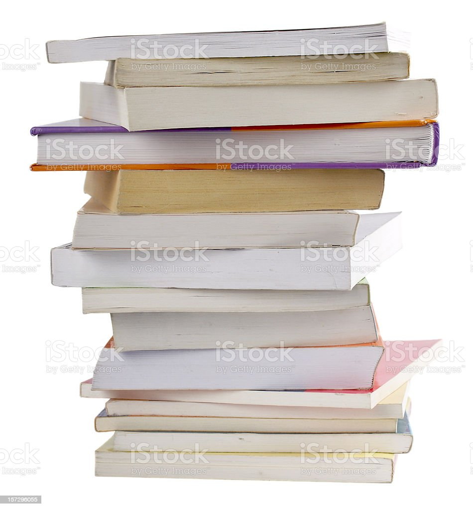 Books - Back to school, isolated on white background royalty-free stock photo