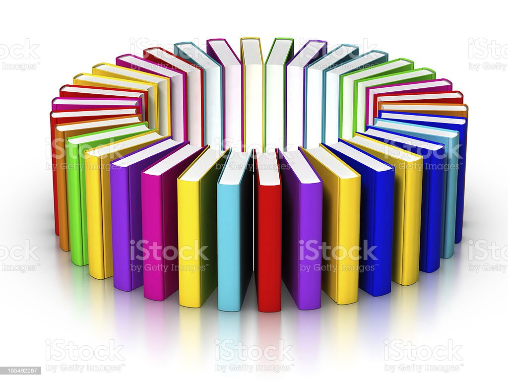 Books Circle royalty-free stock photo