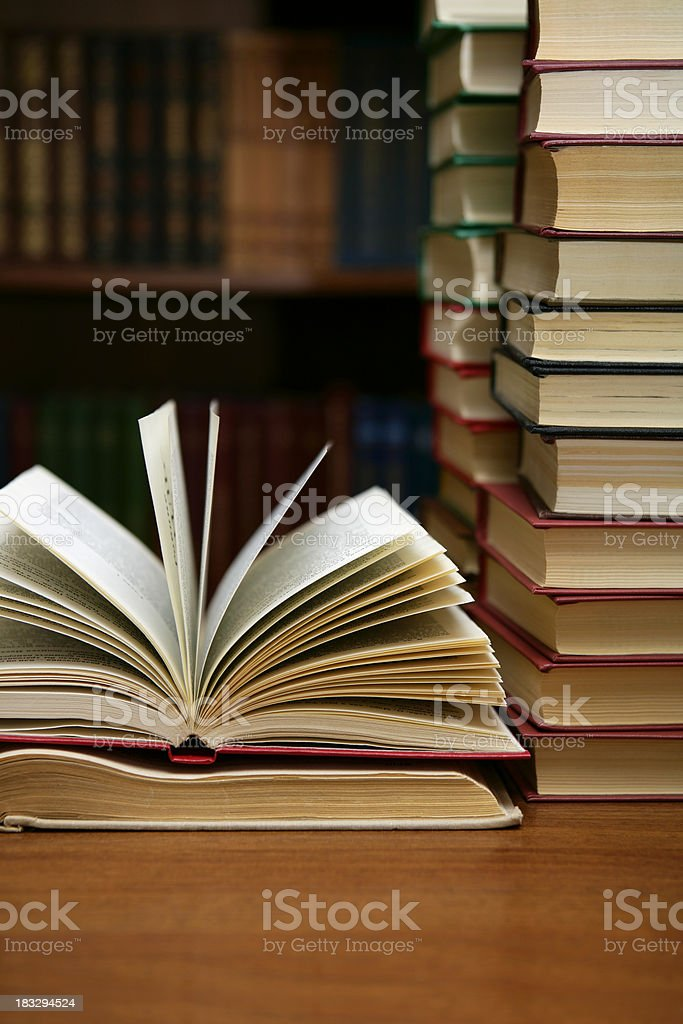 Books close-up stock photo