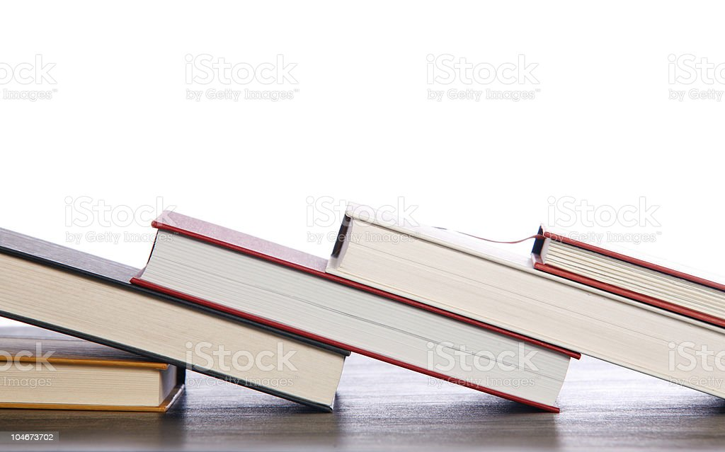 Books diagonal royalty-free stock photo