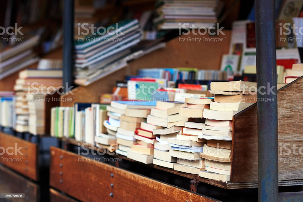 books for reading stock photo