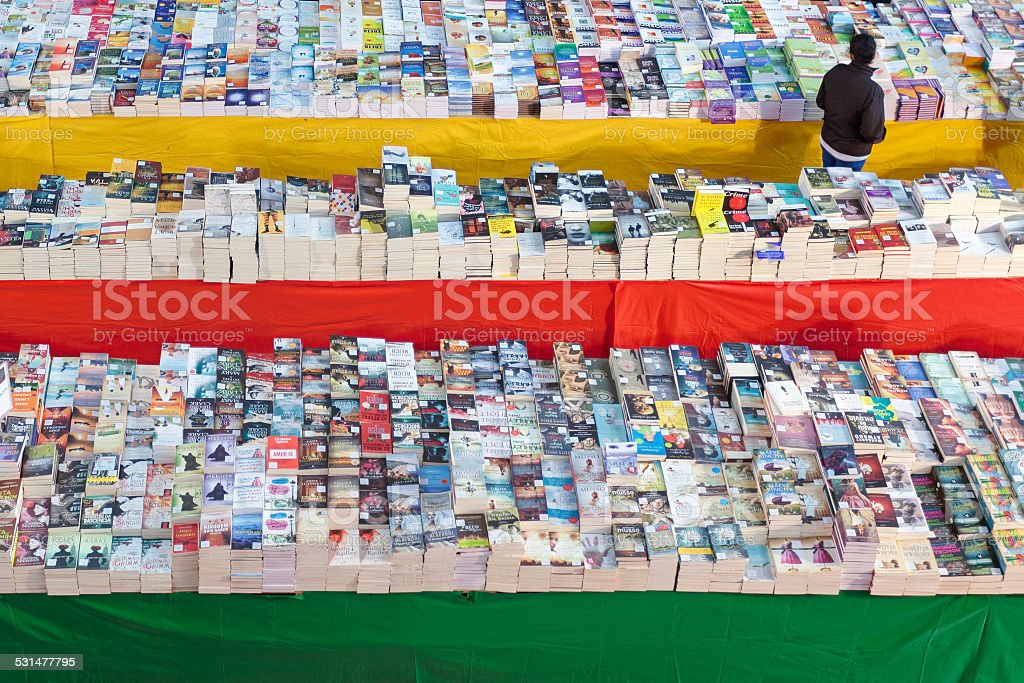 Books for sale stock photo