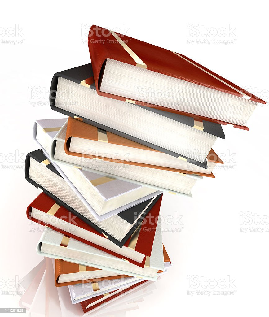 books for school and students isolated on white royalty-free stock photo