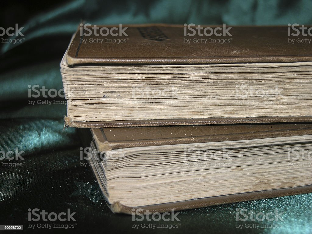 Books from the Mid 1800s royalty-free stock photo