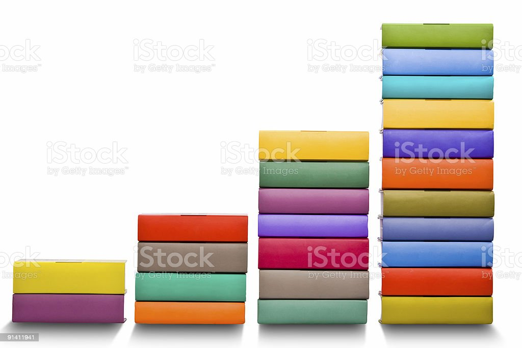 books histogram chart royalty-free stock photo