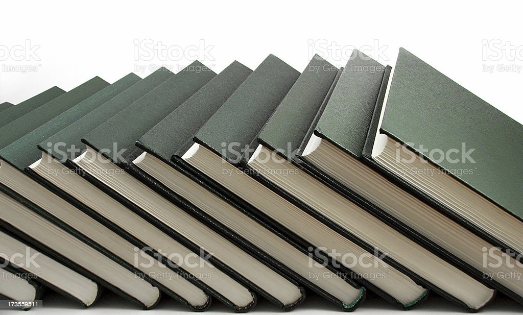 Books in Line royalty-free stock photo