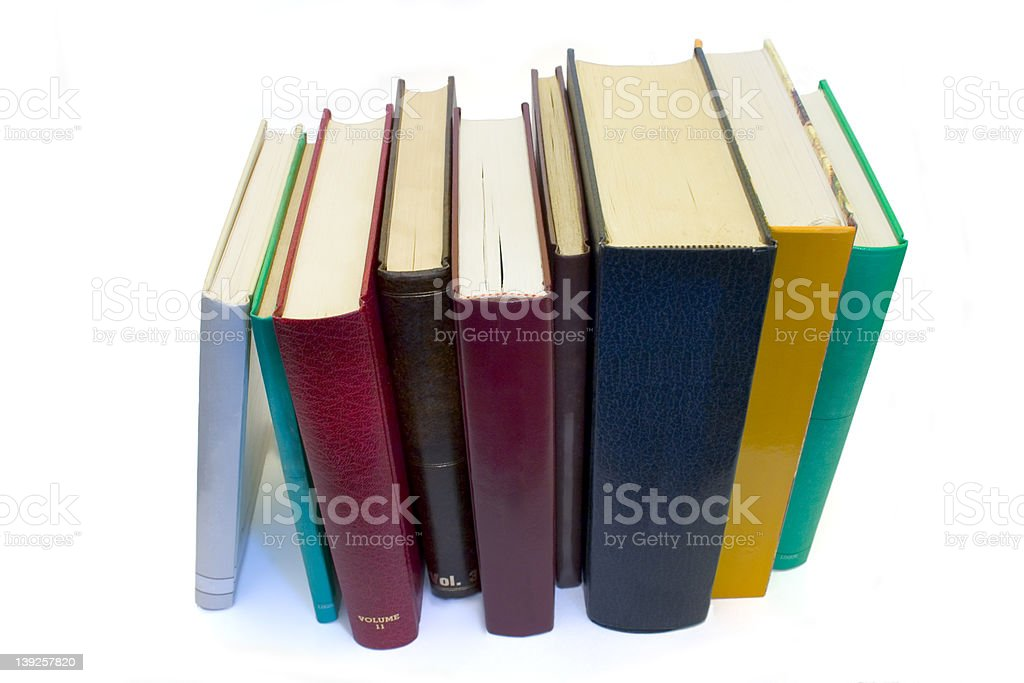 Books In Row royalty-free stock photo
