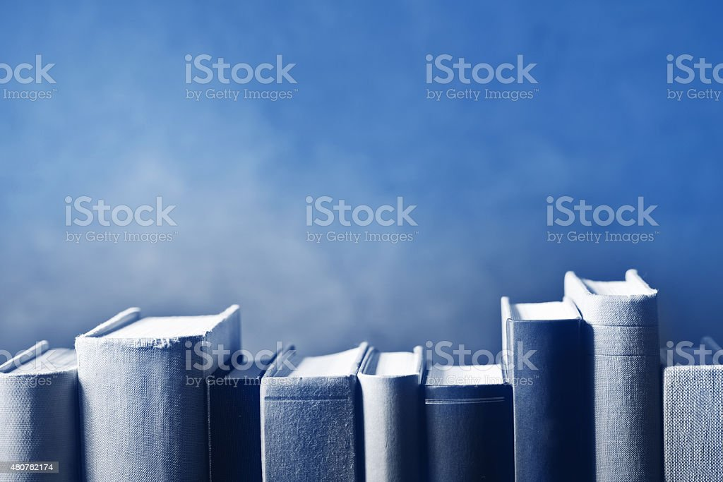 books in the bookshelf stock photo